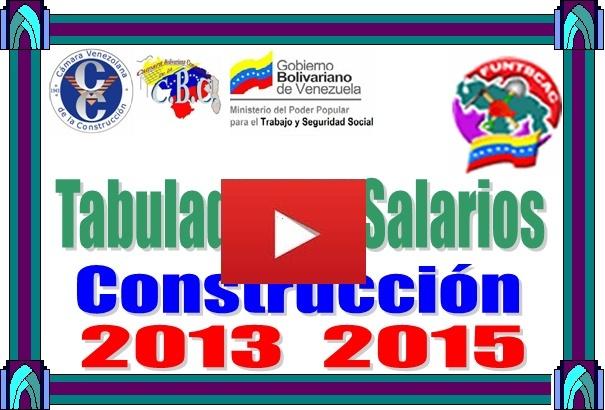 Tabulador de Salarios Construcción julio 2015