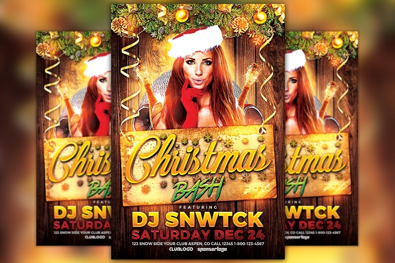 Christmas Bash Club Flyer Template