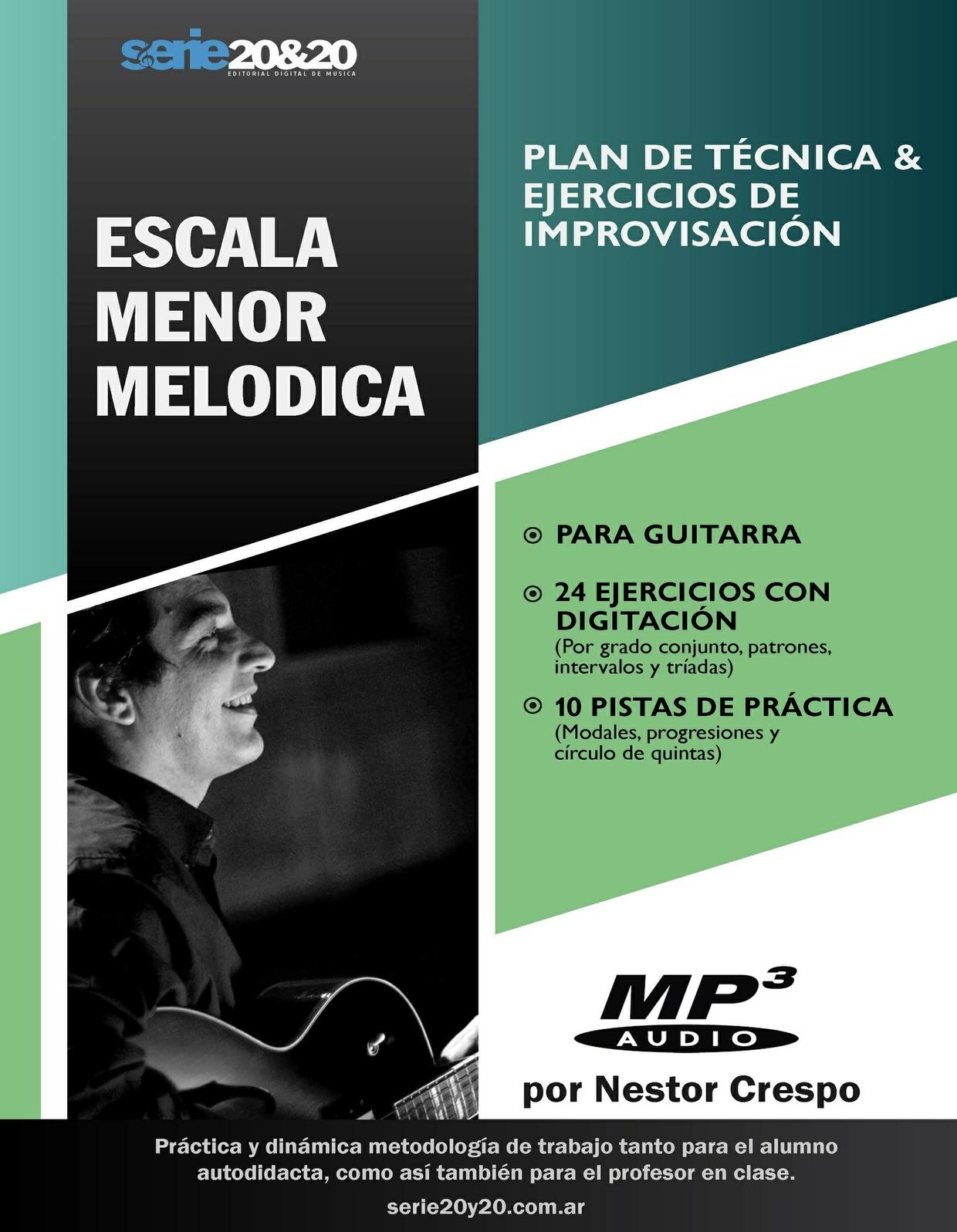 GUITARRA / Menor Melódica (Plan de técnica-improvisación)