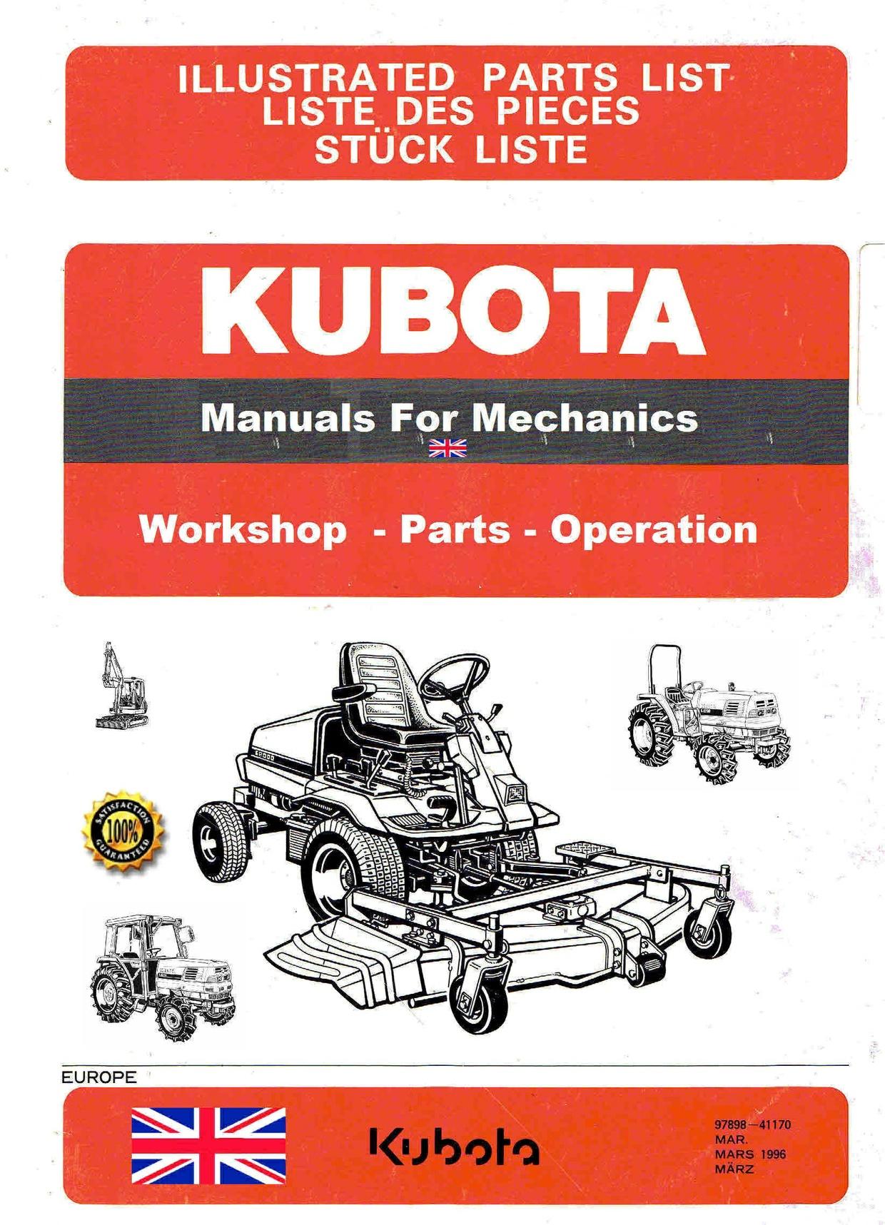 Kubota manuals for mechanics themanualman sellfy kubota manuals for mechanics sciox Images