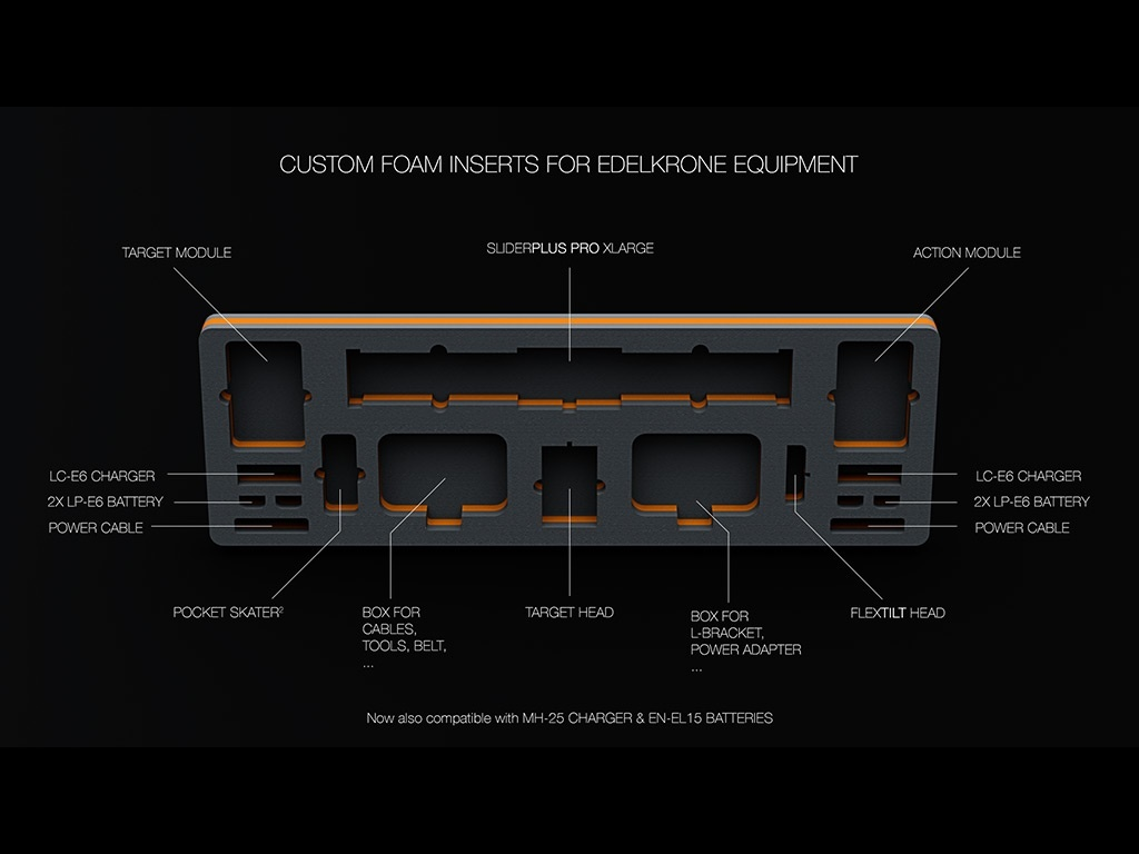 BLUEPRINT custom foam insert edelkrone equipment