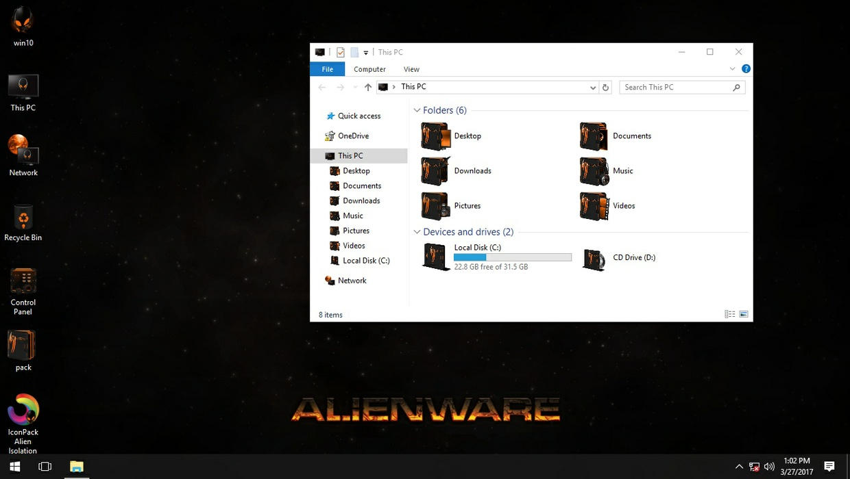 Alien Isolation Orange IconPack
