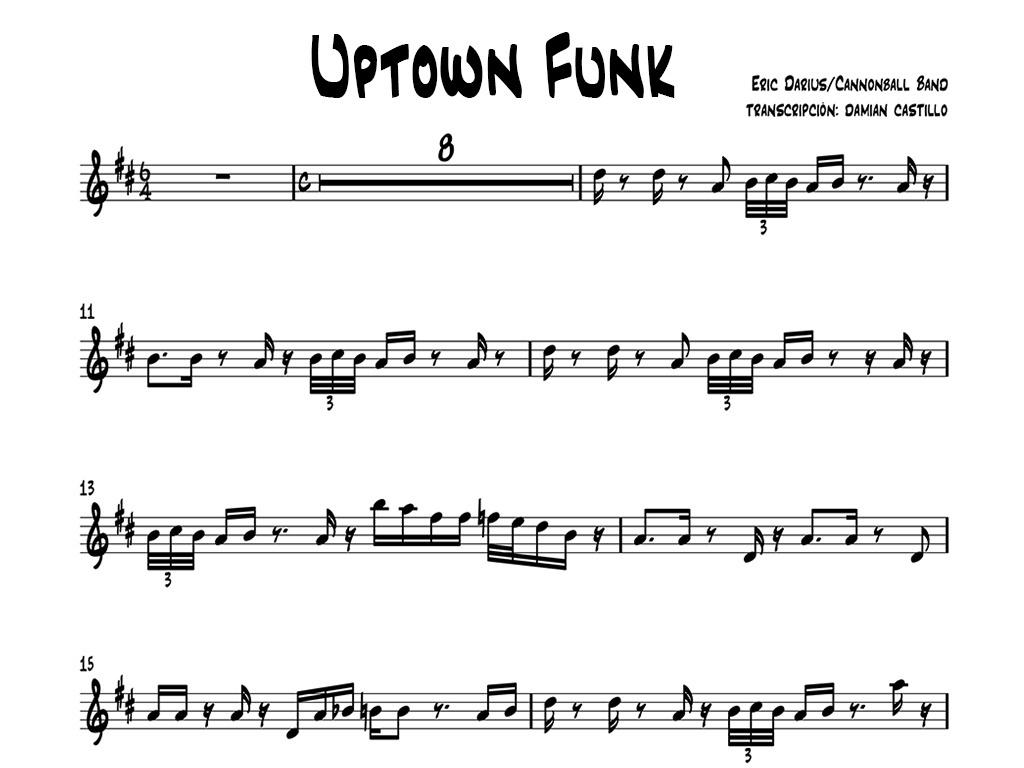 """Eric Darius - """"Uptown Funk"""" - Eb"""