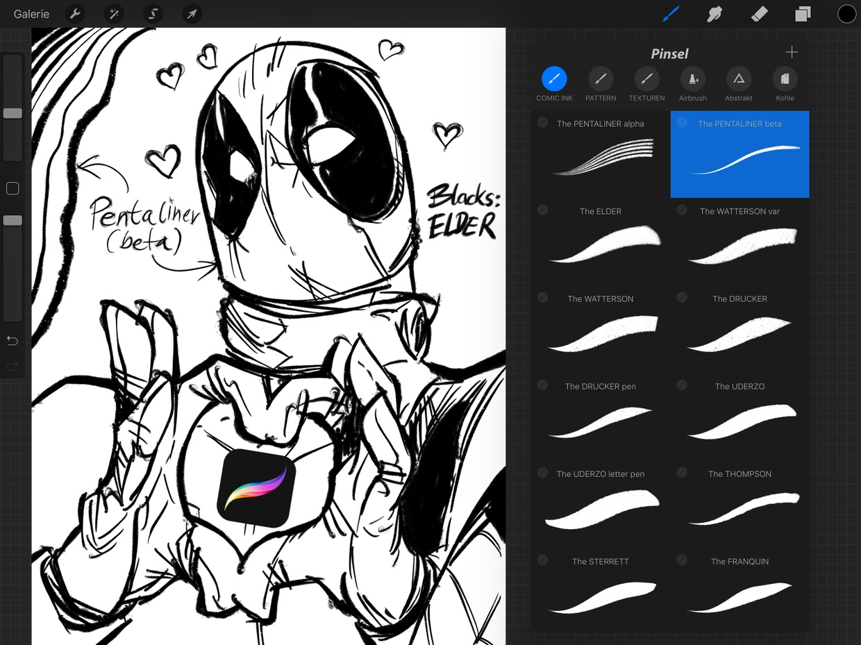 Free Ink Pens Free Comic Ink Brush Set For Procreate 16 Inking And