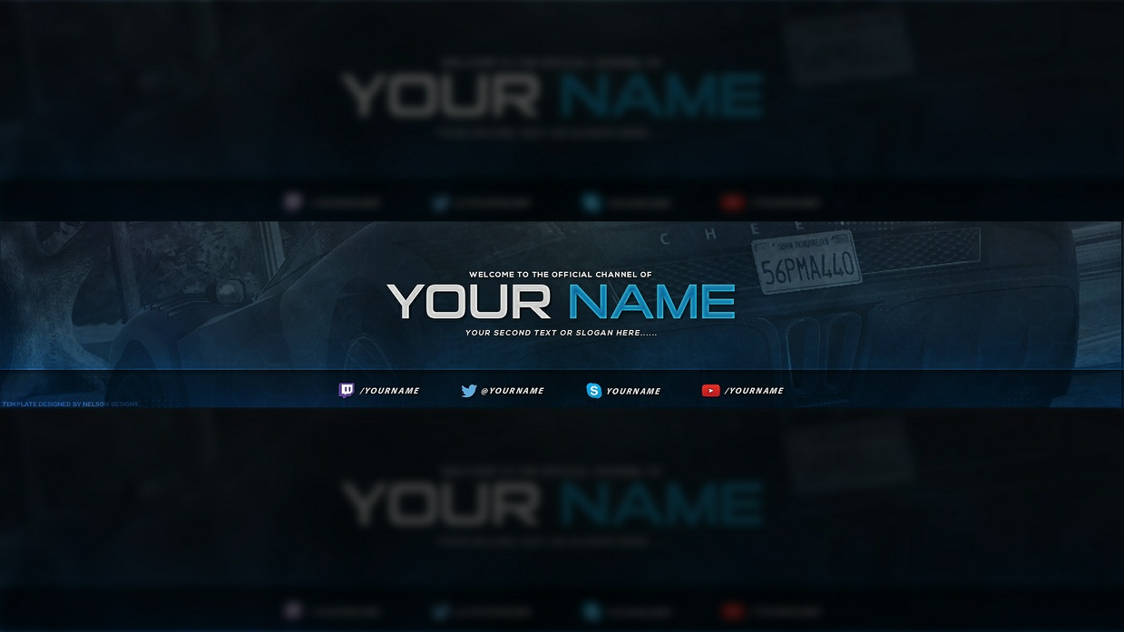 Gaming YouTube Banner Template | Tristan Nelson - Sellfy.com