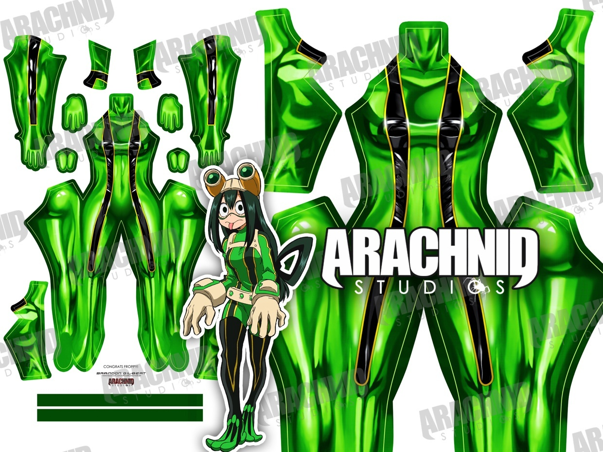 Froppy V2 (no straps/boots/gloves) Dye-sub pattern