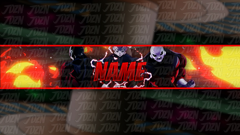 *NEW* Jiren YouTube Banner Template [Dragon Ball Super 2018] - JDZN