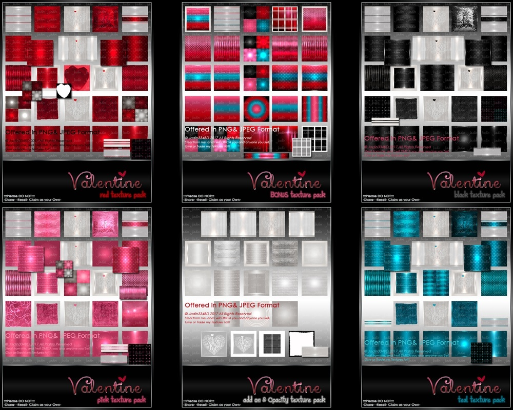Complete Valentine Collection-- $16.00
