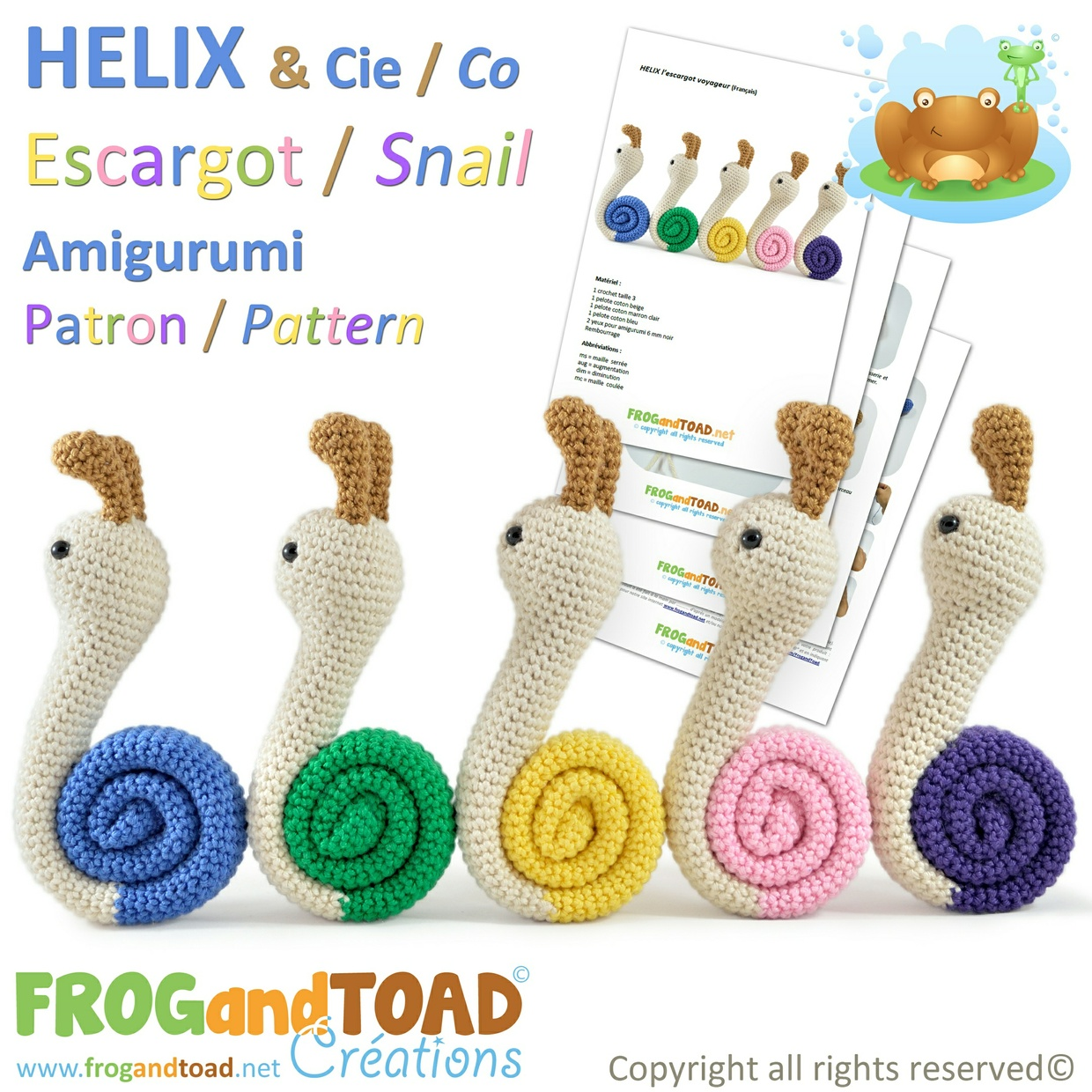 HELIX - l'escargot voyageur / the travelling snail - FROGandTOAD Créations ©