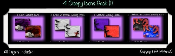 8 Creepy Icons (Set 1)