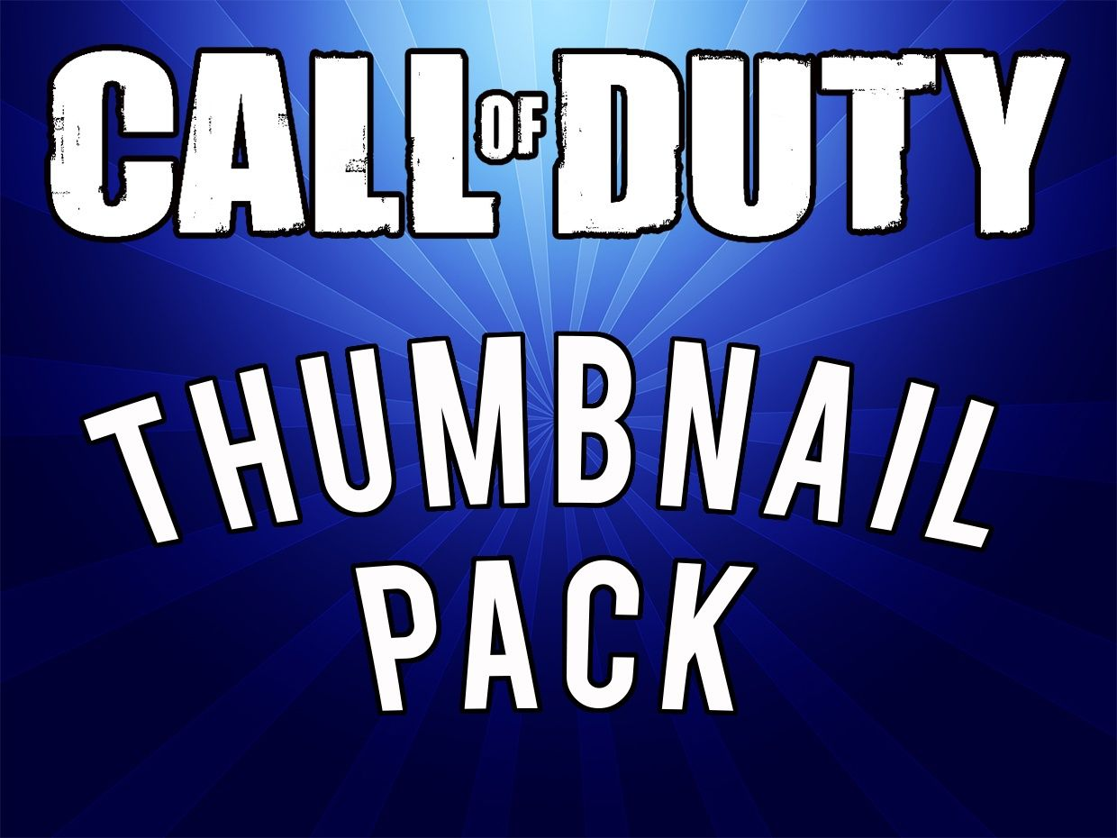 Call Of Duty Thumbnail Pack