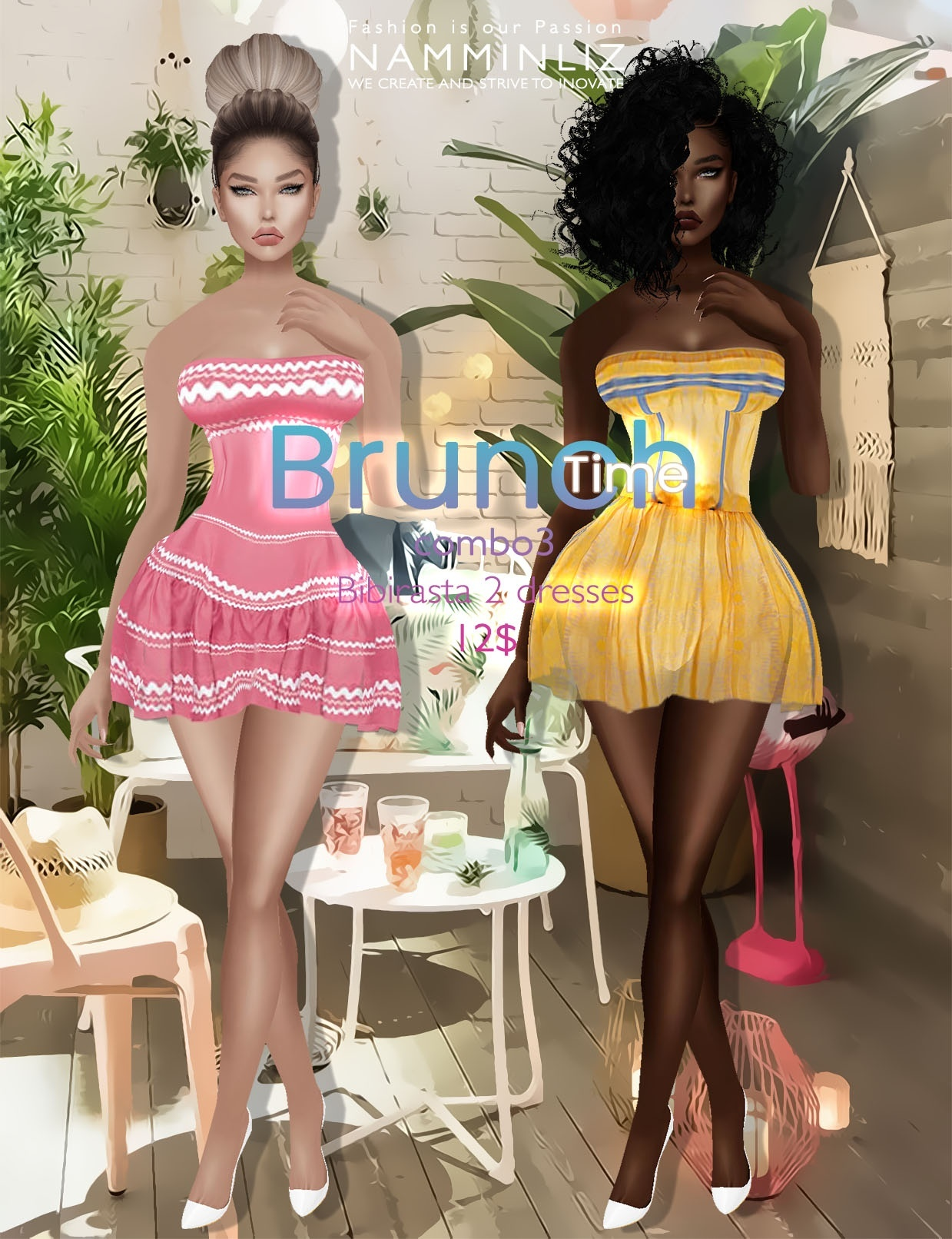Brunch time combo3 ( imvu Bibirasta 2 dresses ) all sizes