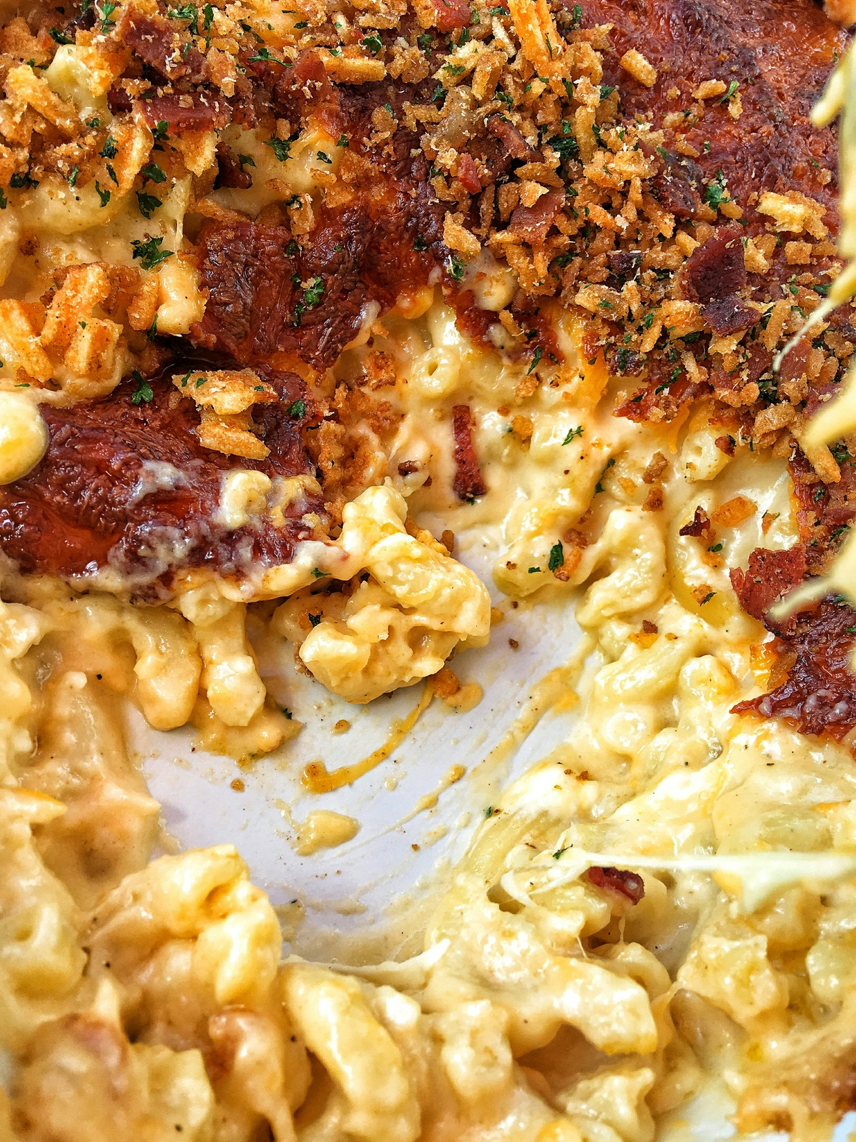 Mac n Cheese with crispy  topping