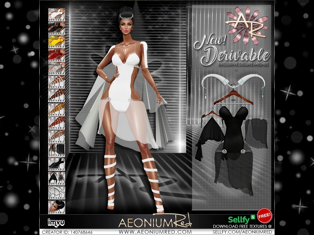 IMVU Freebie! Sexy Fury 5 Colors Texture Collection