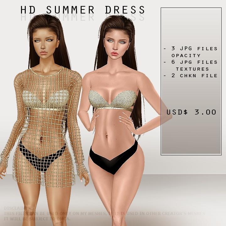 ISFS Summer Net Dress - Textures