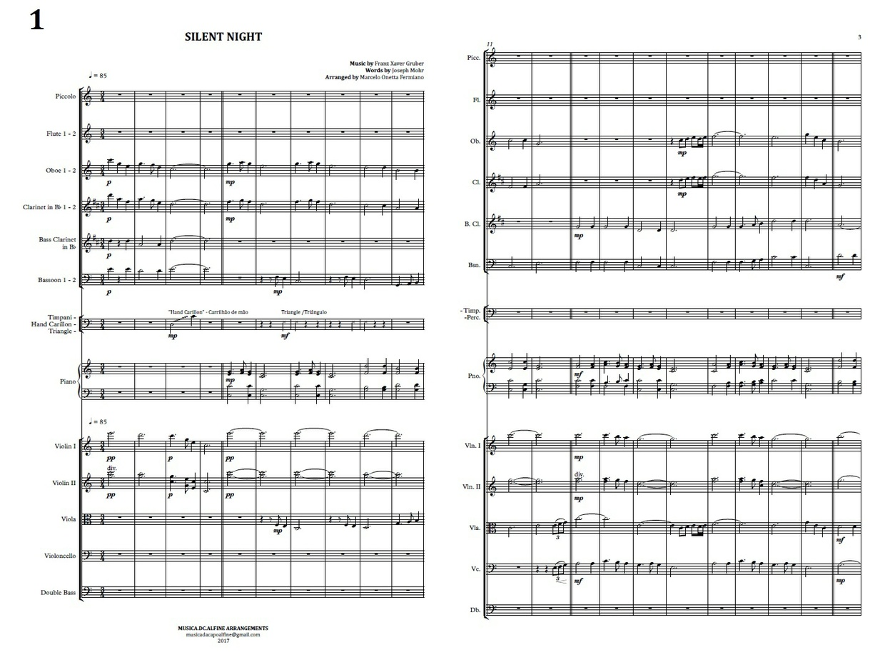 Silent Night | Stille Nacht | Symphony Orchestra | Score and Parts