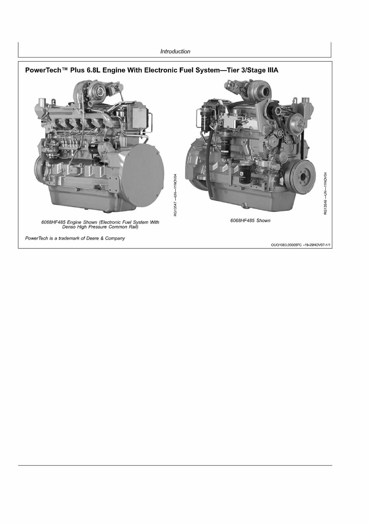 PDF DOWNLOAD John Deere 6068TFM75-6068TFM76 Marine Engines Repair Service Technical Manual PDF