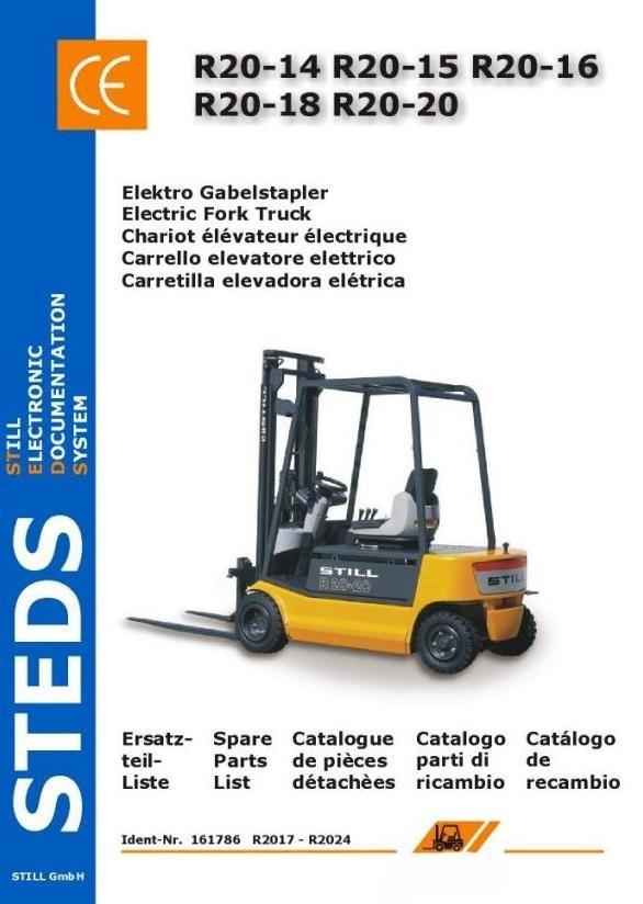 Still Forklift R20-14,-15,-16,-18,-20: 2017, 2018, 2019, 2020, 2021, 2022,2023,2024 Spare Parts List