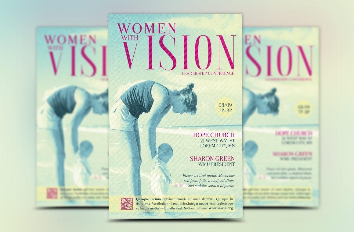 Women Leadership Seminar Flyer Template