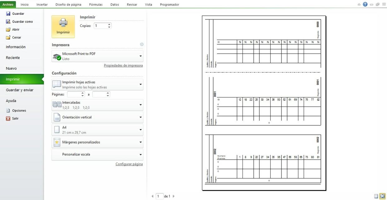 Impresión Múltiple en Excel (Multitalonarios)