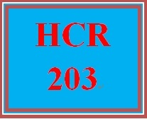 HCR 203 Week 2 Write a Great Cover Letter