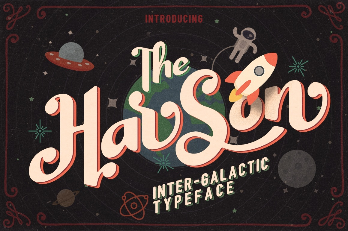 Harson - Inter-galactic Typeface [font]