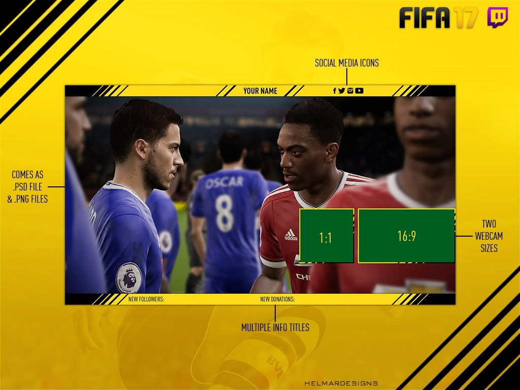 FIFA 17 Twitch Overlay (Customisable)