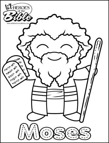L 39 il hereos of the bible moses artistxerocreations for Bible coloring pages moses