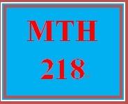 MTH 218 Week 4 What's for Dinner Scenarios
