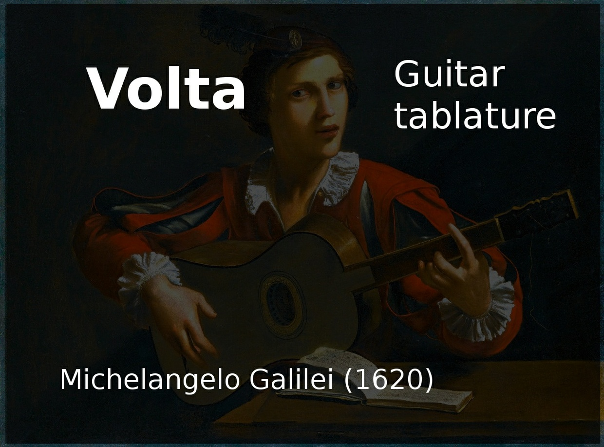 Volta (Michelangelo Galilei 1620) - Guitar Tablature
