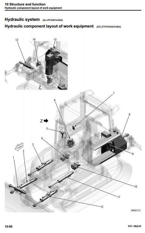 Komatsu Crawler Dozers D37EXi-23, D37PXi-23, D39EXi-23, D39PXi-23 Workshop Service Manual