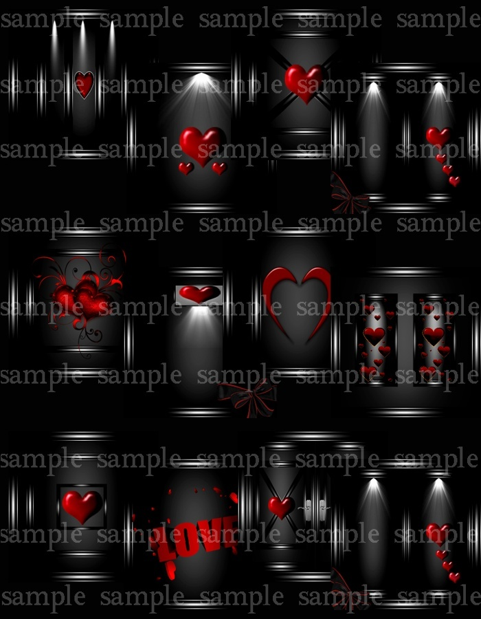 6 Piece Valentines Day Meshes