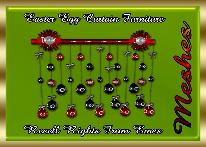 Easter Egg Curtain Furniture Catty Only!!!
