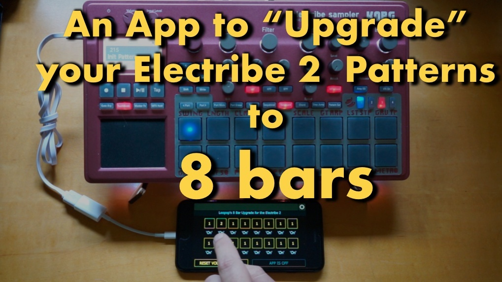 Lemur app to play 8 bar patterns on your Electribe 2 & Sampler