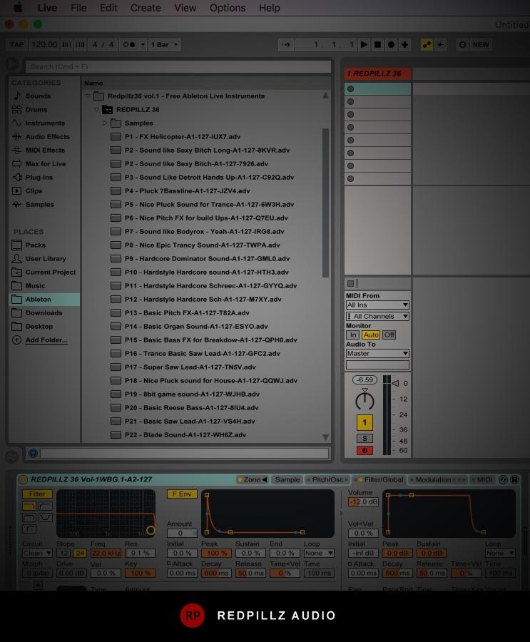 Redpillz36 vol.1 - Free Ableton Live Instruments