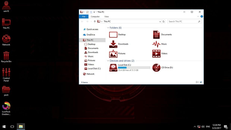 Gradiente RED IconPack