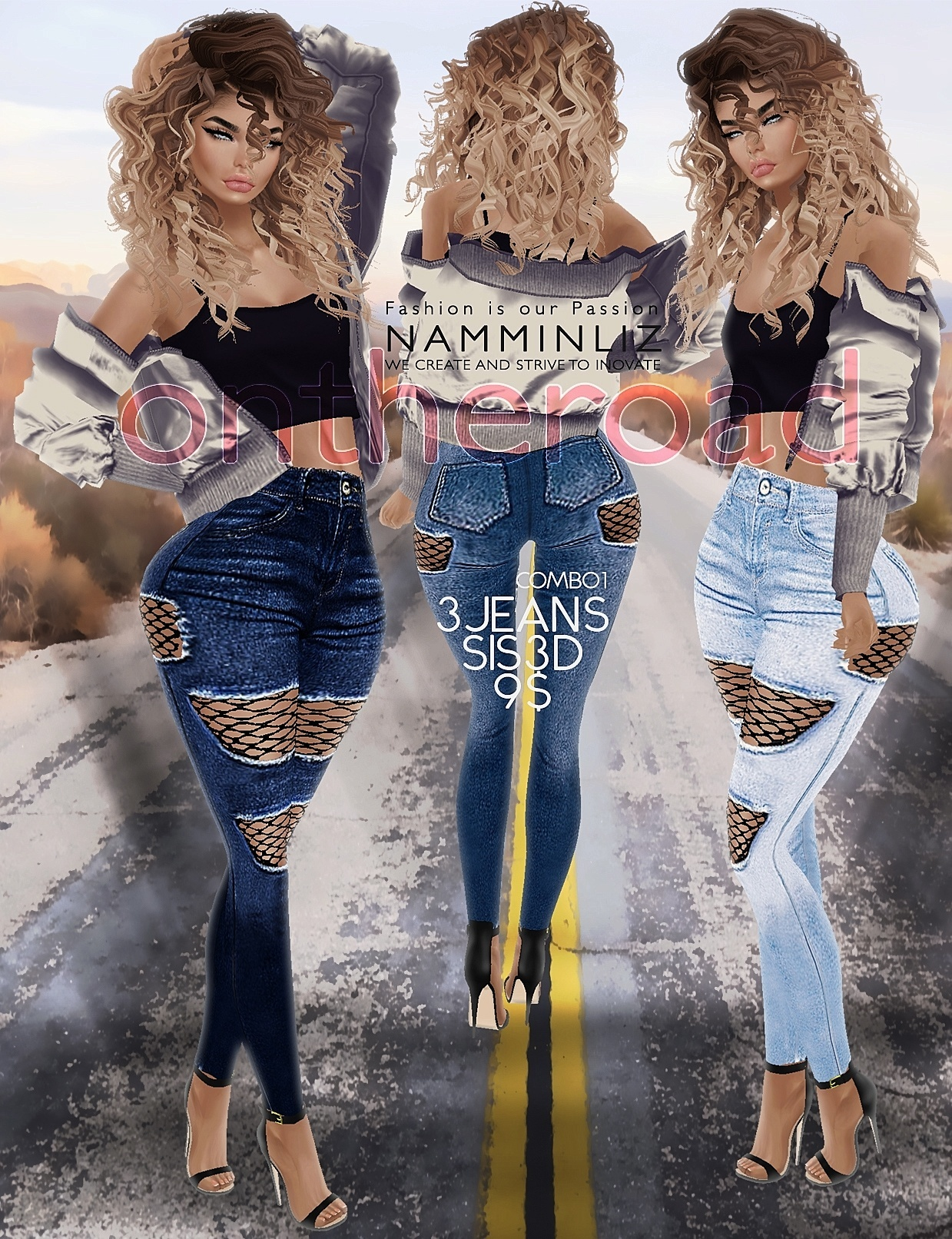 ontheroad full combo / 12Jeans Sis3d PNG RLL RLLS RL