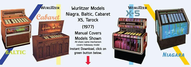 Wurlitzer Models Niagara, Baltic, Cabaret X5, Tarock  (1977)