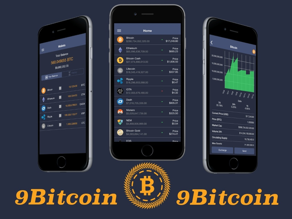 ionFullApp 9Bitcoin Crypto Currencies