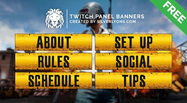 PUBG Title Twitch Panels