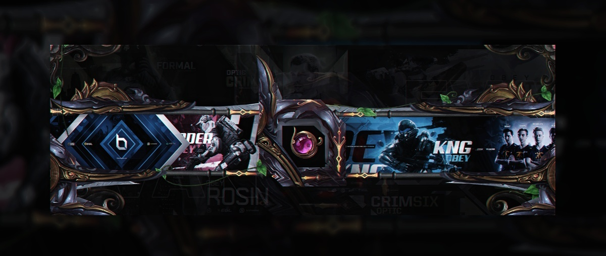 Header for Obey Evan | Template PSD