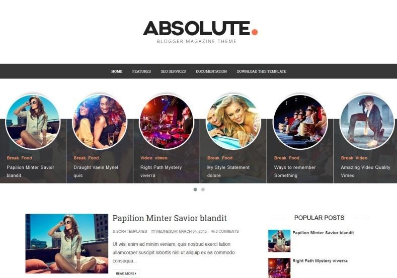 Absolute Blogger Template Premium Version