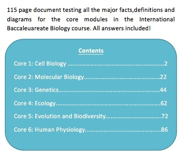 IB Biology Complete Core Revision Quiz Bundle