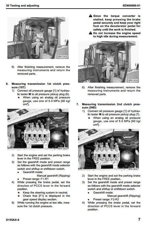 Komatsu Crawler Dozers D155AX-6 sn:80001 and up Workshop Service Manual