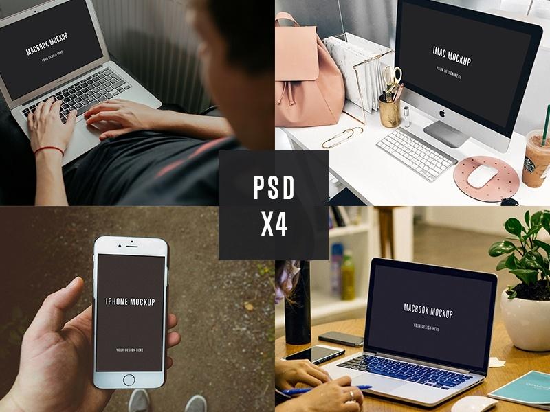 4 PSD Mockups