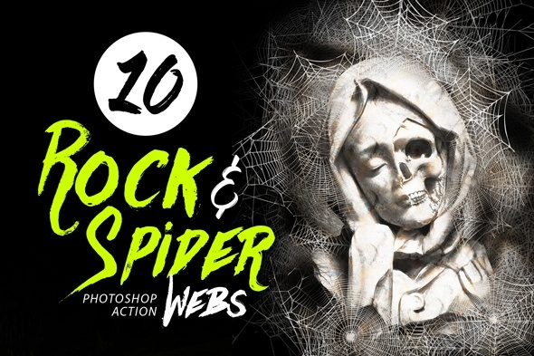 10 Rock And Spider Webs Photo Effect