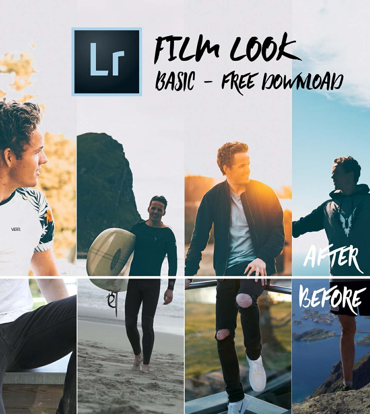 FILM LOOK BASIC - 5 Lightroom Smart Presets // FREE DOWNLOAD