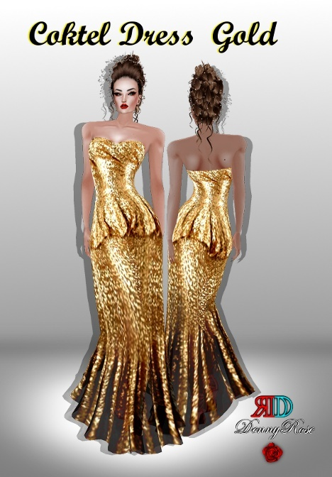 ❀ ❀ COKTEL DRESS GOLD ❀ ❀