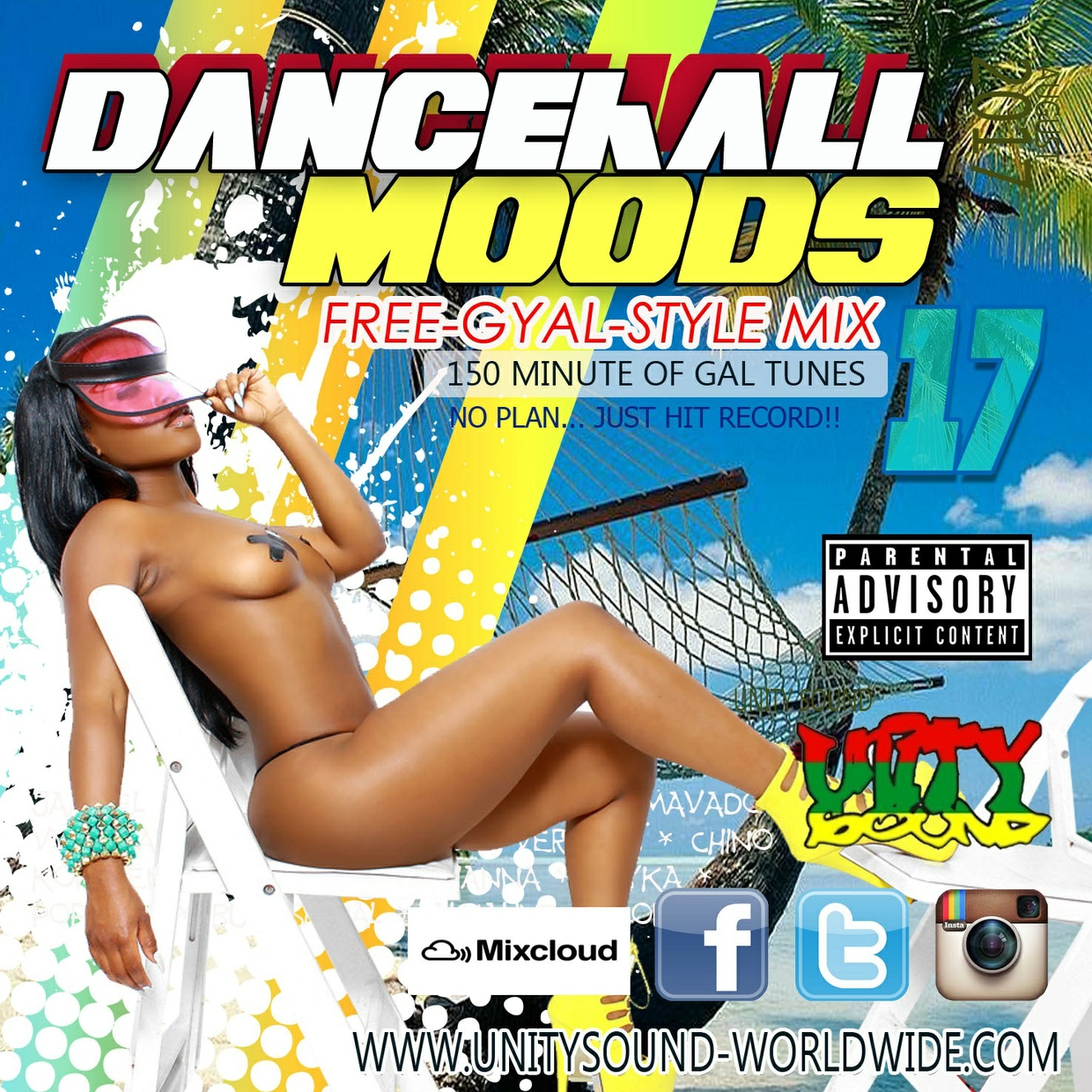 [Single-Tracked Download] Unity Sound - Dancehall Moods 17 - Free Gyal Style Mix - 2017