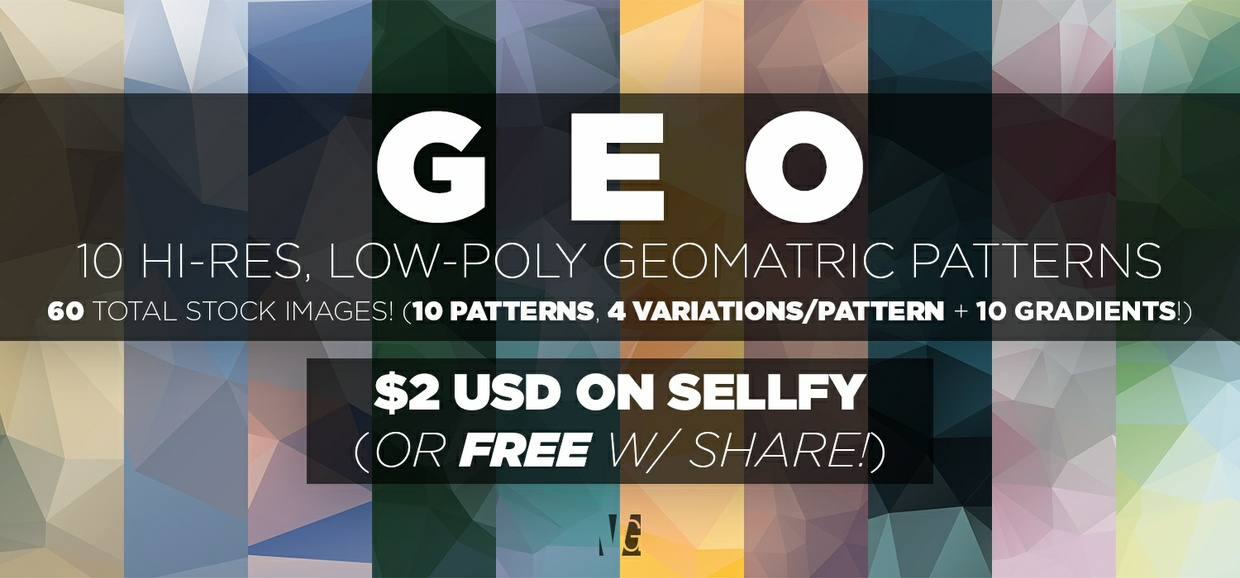 Geo | 10 Low Poly Geometric Stock Images